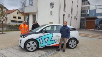 Von links Bautechniker Lutz Brückner, Bürgermeister Stefan Rottmann und Andreas Ebert (UEZ)