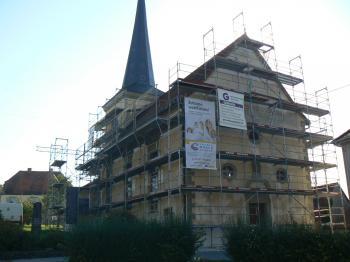 Der Kirchplatz ist einer der markantesten Projekte im Maßnahmenkatalog der Dorferneuerung Reichmannshausen