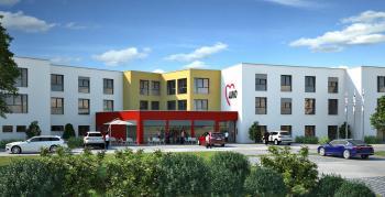 Das neue Senioren- und Pflegezentrum als Herzstück des Wohnquartiers