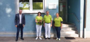 Das Foto zeigt von links Bürgermeister Stefan Rottmann, Sabine Eisenbrand, Dr. Ingo Reeh und Dr. Gerlinde Fabeck. (Foto Jule Köblitz)